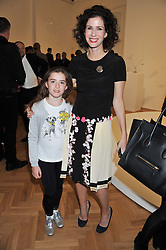 MOLLIE DENT-BROCKLEHURST and her daughter VIOLET WARD at a Private View of 'Calder - After The War' at Pace London, Burlington Gardens, London on 18th April 2013.
