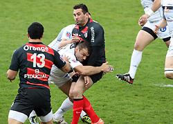 Florian Fritz in action for Toulouse. Stade Toulousain v Brive, 24eme Journee, Top 14. Stade Ernest Wallon, Toulouse, France, 21 Avril 2012.