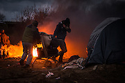 Calais refugee camp known as the 'jungle'.