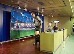 MADRID, SPAIN - Monday, November 3, 2014: Liverpool's Jordan Henderson during a press conference at the Estadio Santiago Bernabeu ahead of the UEFA Champions League Group B match against  Real Madrid CF. (Pic by David Rawcliffe/Propaganda)