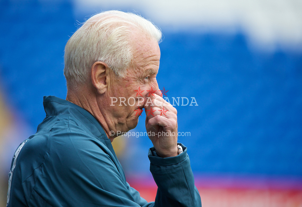 CARDIFF, WALES - Tuesday, August 13, 2013: Republic of Ireland's head coach Giovanni Trapattoni during a training session at the Cardiff City Stadium ahead of the International Friendly match against Wales. (Pic by David Rawcliffe/Propaganda)