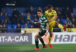 February 21, 2019 - Villarreal, Castellon, Spain - Gerard Moreno of Villarreal CF and Sebastian Coates of Sporting Lisboa during the UEFA Europa League Round of 32 Second Leg match between Villarreal and Sporting Lisboa at Estadio de La Ceramica on February 21, 2019 in Vila-real, Spain. (Credit Image: © Maria Jose Segovia/NurPhoto via ZUMA Press)