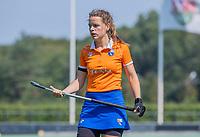 BLOEMENDAAL   - Malou Nanninga (Bldaal)  tijdens de  oefenwedstrijd dames Bloemendaal-Victoria, te voorbereiding seizoen 2020-2021.   COPYRIGHT KOEN SUYK