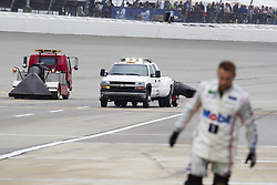 June 10, 2018 - Brooklyn, Michigan, U.S - Jet blowers dry the track before the 50th Annual FireKeepers Casino 400 at Michigan International Speedway. (Credit Image: © Scott Mapes via ZUMA Wire)