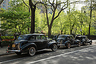 USA, East Coast, New York, Manhattan, New York , Gramercy Park, classic cars