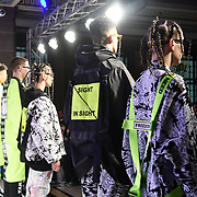 Zl by Zlism exhitbition at Fashion Scout London Fashion Week AW19 on 16 Feb 2019, at Freemasons' Hall, London, UK.