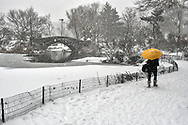 Snow at Gapstow Bridge at the Pond in Central Park