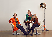 Rainey Knudson, editor of glasstire.com, Catherine D. Anspon, Executive Editor of Papercity and Molly Glentzer, Arts, Design & Culture at The Houston Chronicle are photographed for Arts Houston Magazine on December 20, 2016 at Lindstrom Studios.<br /> <br /> Nathan Lindstrom Photography<br /> ©2016 Nathan Lindstrom