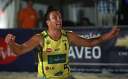 Samo Miklavc (Marchiol 1 Team) at qualifications for 14th National Championship of Slovenia in Beach Volleyball and also 4th tournament of series TUSMOBIL LG presented by Nestea, on July 25, 2008, in Kranj, Slovenija. (Photo by Vid Ponikvar / Sportal Images)/ Sportida)