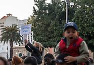 Corteo contro l'accordo Italia-Libia sull'immigrazione