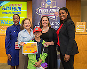 Scarborough Elementary School is recognized during the reveal of the 32 finalists in the Houston ISD NCAA Read to the Final Four, November 11, 2015.