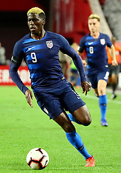 January 27, 2019 - Glendale, AZ, U.S. - GLENDALE, AZ - JANUARY 27: United States of America forward Gyasi Zardes (9) runs up field during the international friendly between the United States Men's National Team and Panama on January 27th, 2019 at State Farm Stadium in Glendale, AZ (Photo by Adam Bow/Icon Sportswire) (Credit Image: © Adam Bow/Icon SMI via ZUMA Press)