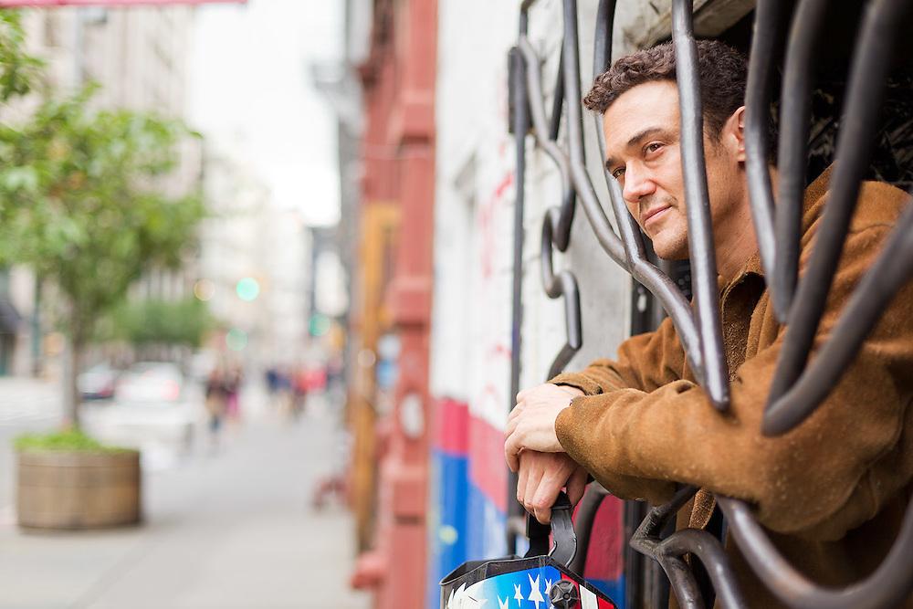 Josh Hadar, metal artist, photographed at his Manhattan studio