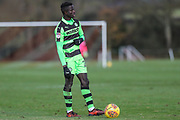 Forest Green Rovers Toni Gomes(25) during the The Central League match between Cheltenham Town Reserves and Forest Green Rovers Reserves at The Energy Check Training Ground, Cheltenham, United Kingdom on 28 November 2017. Photo by Shane Healey.