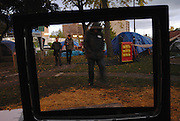 "There is an illussion to an old Gil Scot-Heron song that ""the revolution will not be televised', Occupy Windsor, Senator Croll Park, Windsor, Canada, October 2011."