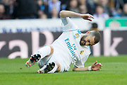 Real Madrid's French forward Karim Benzema reacts during the Spanish championship Liga football match between Real Madrid and Alaves on february 24, 2018 at Santiago Bernabeu Stadium in Madrid, Spain - Photo Rudy / Spain ProSportsImages / DPPI / ProSportsImages / DPPI
