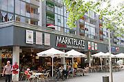 Dresden Neustadt, Hauptstrasse, Allee und Fuegaengerzone, Baeckerei und Cafe, Dresden, Sachsen, Deutschland.|.Dresden, Germany,  Dresden Neustadt, mainstreet, bakery and cafe