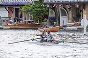 Henley on Thames, England, United Kingdom, 7th July 2019, Henley Royal Regatta, Finals Day, The Silver Goblets & Nickalls' Challenge Cup, ARG M2-, A. Diaz & A. Haack,  Argentina Henley Reach, [© Peter SPURRIER/Intersport Image]<br /> <br /> 14:58:13 1919 - 2019, Royal Henley Peace Regatta Centenary,