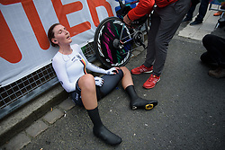 Lisa Brennauer recovers after the UCI Road World Championships Elite Women's Individual Time Trial 2017 a 21.1 km time trial in Bergen, Norway on September 19, 2017. (Photo by Sean Robinson/Velofocus)