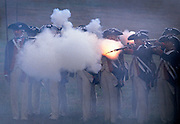 Image of the Revolutionary War reenactment at Yorktown, Virginia, east coast