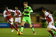 Forest Green Rovers Dayle Grubb(8) runs forward during the EFL Trophy group stage match between Forest Green Rovers and U21 Arsenal at the New Lawn, Forest Green, United Kingdom on 7 November 2018.