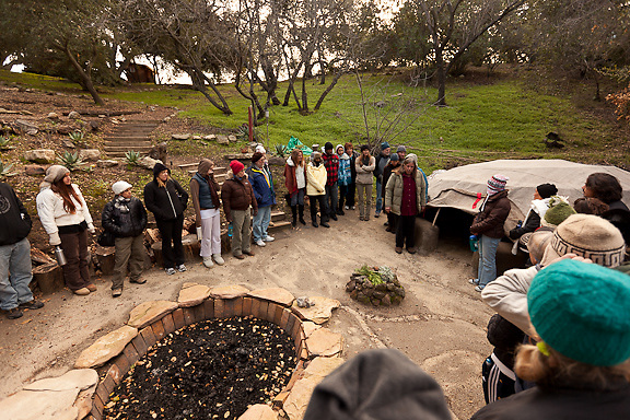 Sweat lodge ceremony, Ojai.
