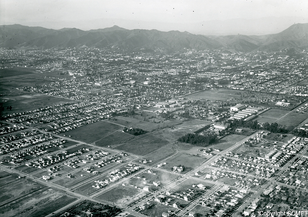 1921 Looking NW at Clune Studios and Robert Brunton Studios on Melrose Ave. & Bronson Ave.