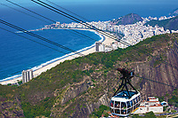 aerial view of copacabana with the from the sugar loaf in rio de janeiro brazil