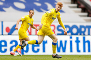 AFC Wimbledon midfielder Alfie Egan (28) in action  during the EFL Sky Bet League 1 match between Wigan Athletic and AFC Wimbledon at the DW Stadium, Wigan, England on 28 April 2018. Picture by Simon Davies.