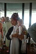 Mrs. Gavin Burke and Carlotte Mahala ( 'Lotte) . The hon Nicholas Soames. Glorius Goodwood. 27 July 2005. ONE TIME USE ONLY - DO NOT ARCHIVE  © Copyright Photograph by Dafydd Jones 66 Stockwell Park Rd. London SW9 0DA Tel 020 7733 0108 www.dafjones.com
