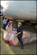 ALICE TEMPERLEY; TARA AGACE, 2014 Serpentine's summer party sponsored by Brioni.with a pavilion designed this year by Chilean architect Smiljan Radic  Kensington Gdns. London. 1July 2014