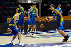 Dmytro Zabirchenko during practice session of Ukraine's National basketball team 1 day before Eurobasket Lithuania 2011, on August 29, 2011, in Arena Svyturio, Klaipeda, Lithuania. (Photo by Vid Ponikvar / Sportida)