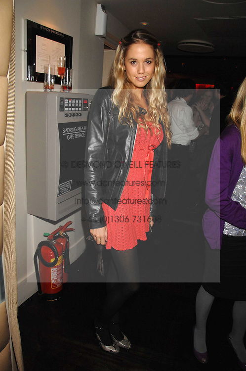 FLORENCE BRUDENELL-BRUCE at a party to celebrate the launch of the Kova & T fashion label and to re-launch the Harvey Nichols Fifth Floor Bar, held at harvey Nichols, Knightsbridge, London on 22nd November 2007.<br /><br />NON EXCLUSIVE - WORLD RIGHTS