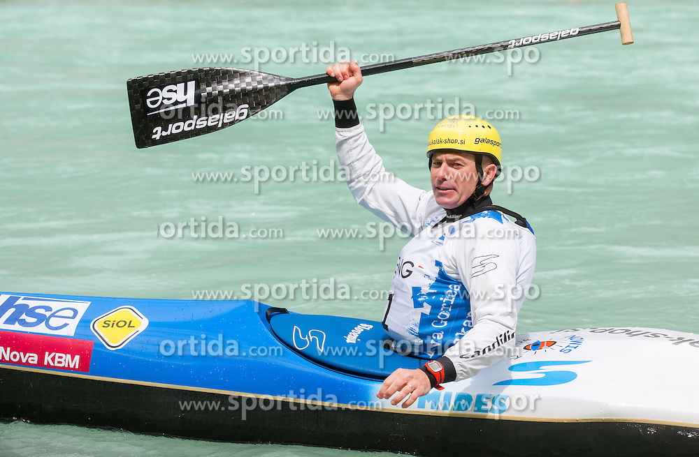 Simon Hocevar of Slovenia competed in C1 men at final sprint race of European wildwater Canoeing Championships Soca 2013 on May 12, 2013 in Trnovo ob Soci, Soca river, Slovenia. (Photo By Vid Ponikvar / Sportida)