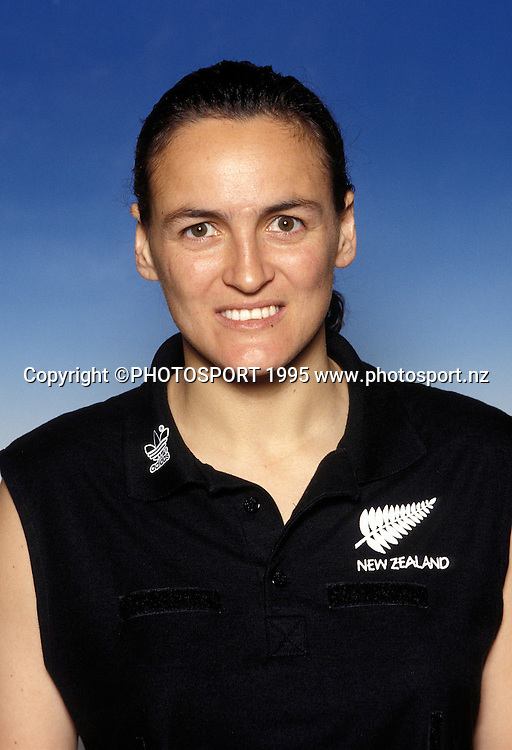 Portrait of Silver Fern Margaret Foster, international netball, 1994/95. Photo: PHOTOSPORT