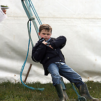 Michael Costello taking it easy at the first County Clare Hunt point to point in Cahergal, Newmarket-on-Fergus on Easter Sunday.<br /> Photograph by Yvonne Vaughan