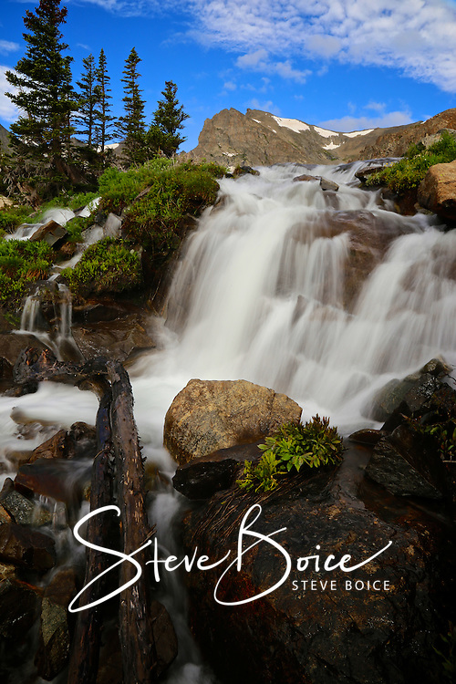 A waterfall in the Indian Peaks Wilderness of the Colorado Rocky Mountains