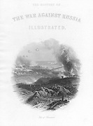 Russo-Turkish  (Crimean) War 1853-6. Siege of Sebastopol, October 1854 to September 1855. Fall of Sebastopol, 11 September 1855, showing explosion as Russians blow up forts and supplies. Engraving