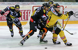 29.12.2016, Albert Schultz Halle, Wien, AUT, EBEL, UPC Vienna Capitals vs Dornbirner Eishockey Club, 37. Runde, im Bild James Livingston (Dornbirner Eishockey Club), Jamie Fraser (UPC Vienna Capitals) // during the Erste Bank Icehockey League 37th round match between UPC Vienna Capitals and Dornbirner Eishockey Club at the Albert Schultz Halle in Vienna, Austria on 2016/12/29. EXPA Pictures © 2016, PhotoCredit: EXPA/ Alexander Forst