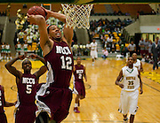 MEAC men's basketball match up between Norfolk State and North Carolina Central played at Echols Hall on the campus of Norfolk State University in Norfolk, Virginia.  (Photo by Mark W. Sutton)