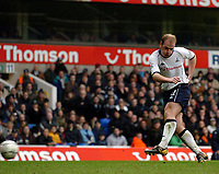 Picture: Henry Browne.<br /> Date: 14/03/2004.<br /> Tottenham Hotspur v Newcastle United FA Barclaycard Premiership.<br /> Gary Doherty puts his shot past the post for Spurs.