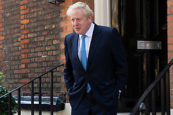 © Licensed to London News Pictures. 23/07/2019. London, UK. Conservative Party leader candidate Boris Johnson MP leave his campaign HQ in Westminster to attend the results of the leadership election. Photo credit: Ray Tang/LNP