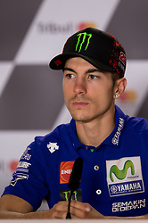 September 7, 2017 - San Marino, RN, Italy - Maverick Vinales of Movistar Yamaha MotoGP during the presentation press conference of the Tribul Mastercard Grand Prix of San Marino and Riviera di Rimini, at Misano World Circuit ''Marco Simoncelli'', on September 07, 2017 in Misano Adriatico, Italy  (Credit Image: © Danilo Di Giovanni/NurPhoto via ZUMA Press)