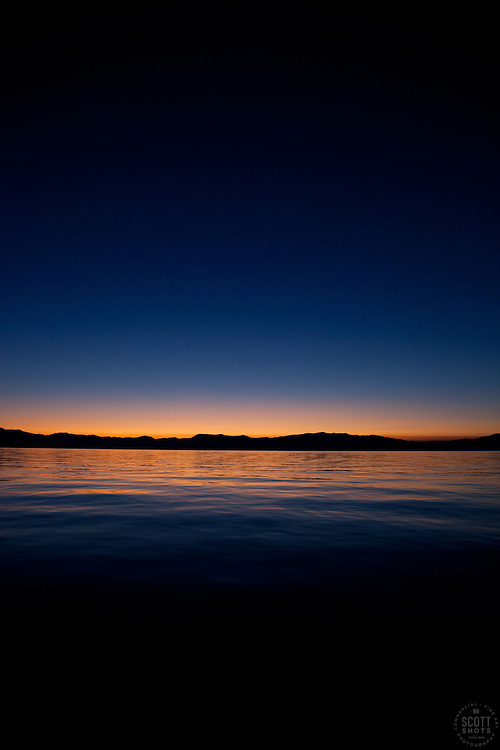 """""""Sunrise at Lake Tahoe 6"""" - This sunrise was photographed from a boat on Lake Tahoe."""