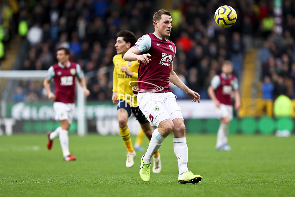 Burnley forward Chris Wood  during the Premier League match between Burnley and Arsenal at Turf Moor, Burnley, England on 2 February 2020.