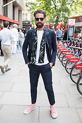 © Licensed to London News Pictures. 10/06/2016. London, UK. Jack Guinness arrives at the opening for London Collections Men at 180 The Strand. Photo credit : Tom Nicholson/LNP