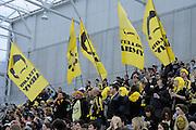 Phoenix Fans,   A-League football pre season match - Wellington Phoenix v Brisbane Roar at Forsyth Barr Stadium, Dunedin, New Zealand on Saturday, 20 August 2011. Photo: Richard Hood/photosport.co.nz