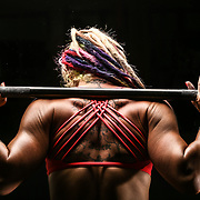 Crystal McReynolds (C-Rock) at the Jiboom Crossfit gym.