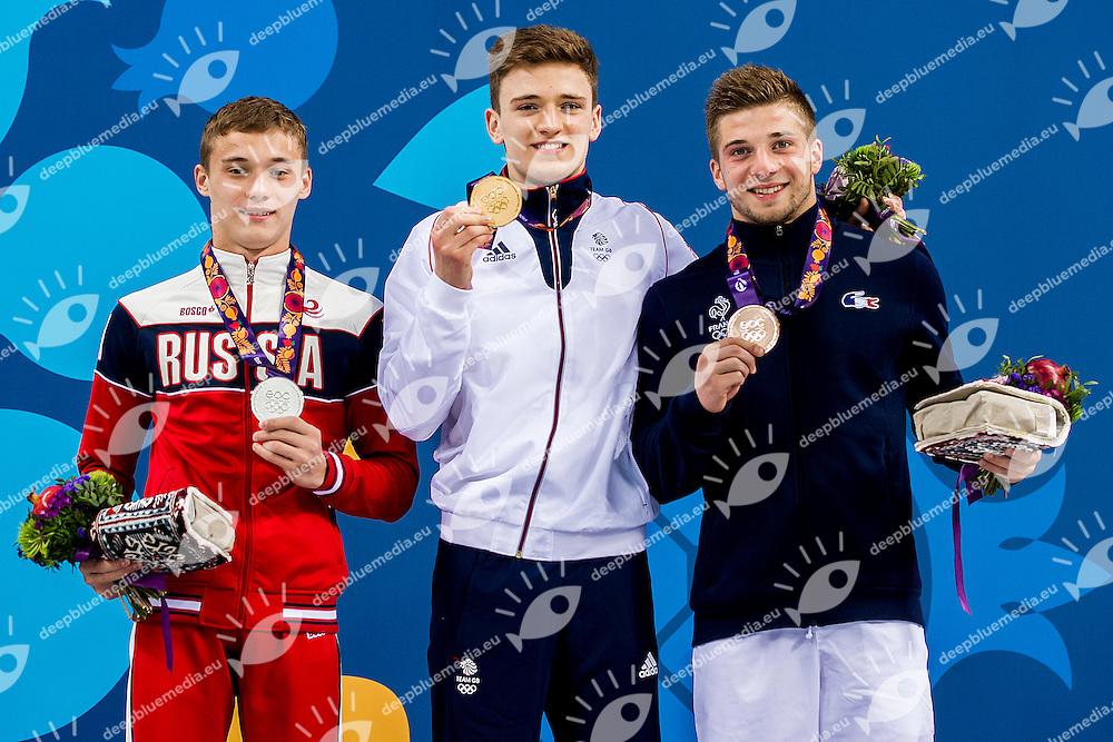Podium <br /> Platform Men Final Diving<br /> 1st European Olympic Games <br /> Baku Azerbaijan 12-28/08/2015<br /> Photo Andrea Masini/Deepbluemedia/Insidefoto