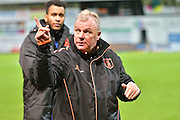 Mansfield Town manager Steve Evans during the EFL Sky Bet League 2 match between Mansfield Town and Crawley Town at the One Call Stadium, Mansfield, England on 19 November 2016. Photo by Simon Trafford.